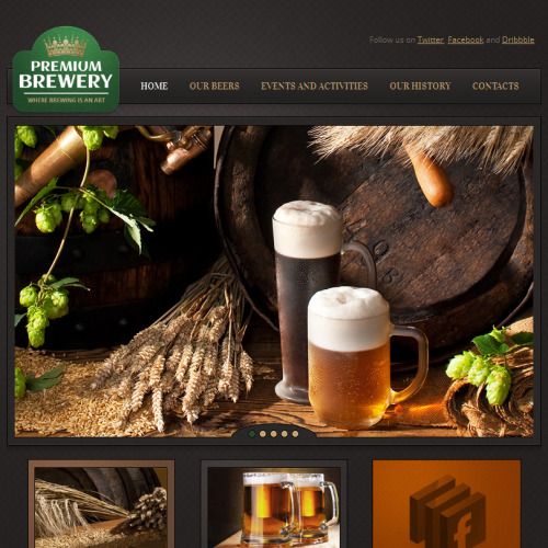 Premium Brewery - Facebook HTML CMS Template