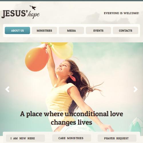 Jesus' Hope - Facebook HTML CMS Template