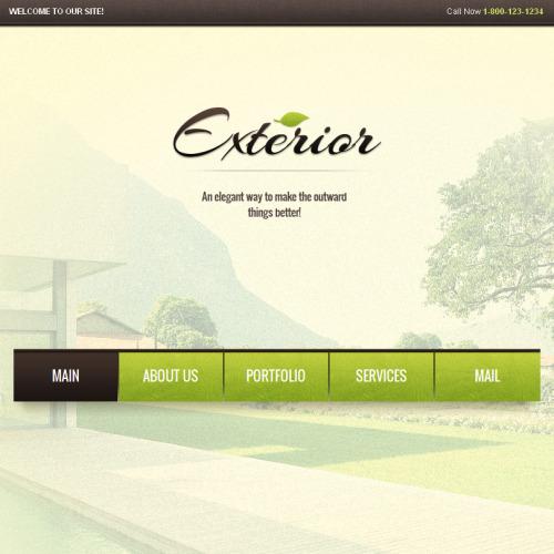 Exterior Design - Facebook HTML CMS Template
