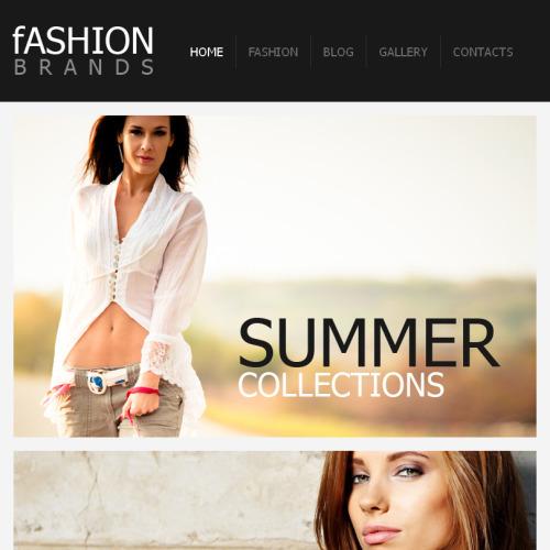 Fashion - Facebook HTML CMS Template