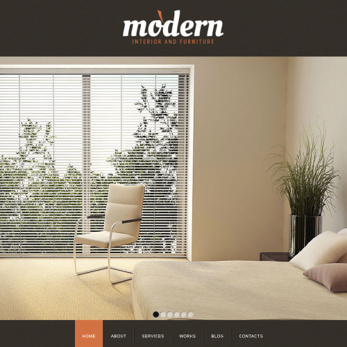 Interior Design - Facebook HTML CMS Template