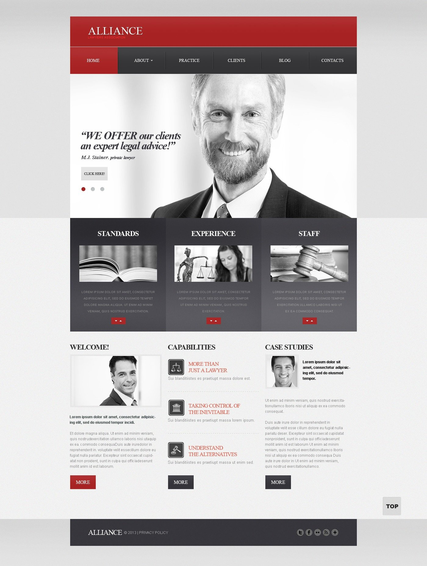 law firm website template 42247