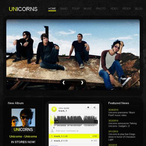 Unicorns - Facebook HTML CMS Template