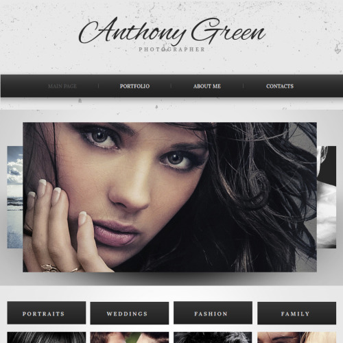 Anthony Green - Facebook HTML CMS Template