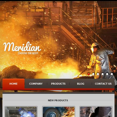 Meridian - Facebook HTML CMS Template
