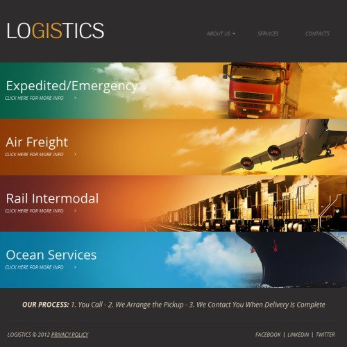 Logistics - Facebook HTML CMS Template