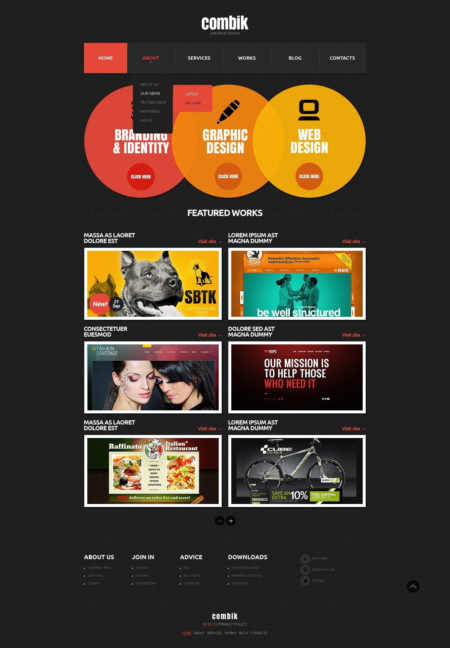 Website Vorlage für Designstudio #42246