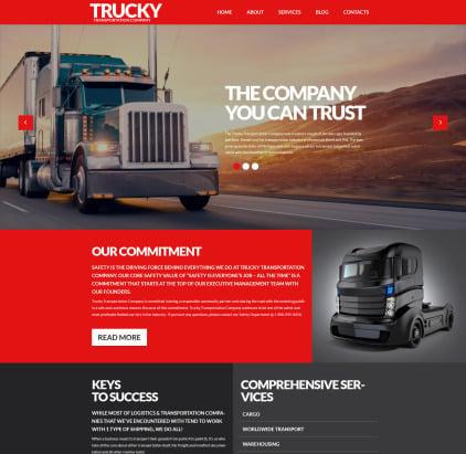 Transportation and Logistics Responsive WordPress Theme