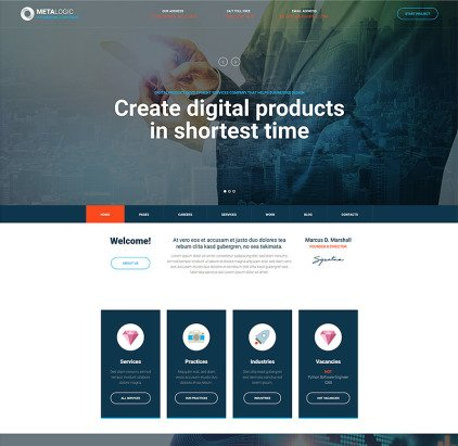 Software Development WordPress Theme