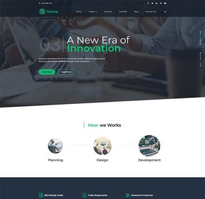 Techup - IoT and AI Tech Startup WordPress Theme