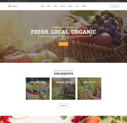 Organic Farming Agriculture WordPress Theme