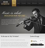 Music Facebook HTML CMS  Template 42301