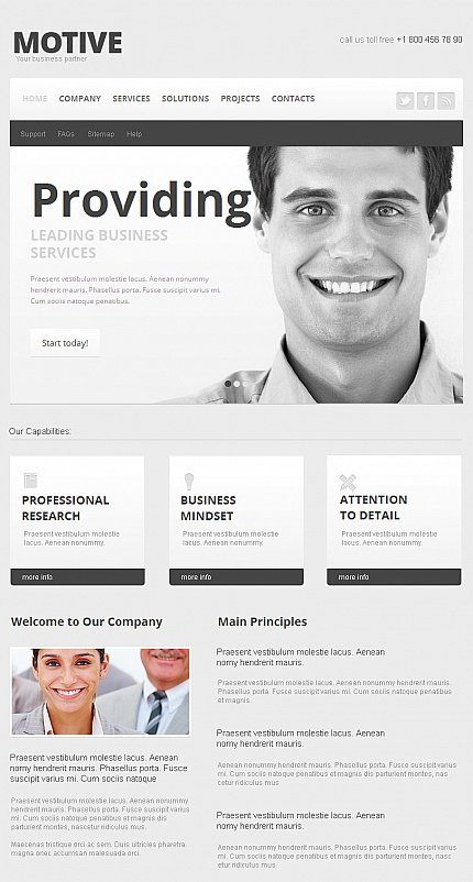 ADOBE Photoshop Template 42303 Home Page Screenshot