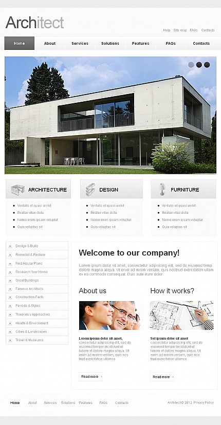 ADOBE Photoshop Template 42309 Home Page Screenshot