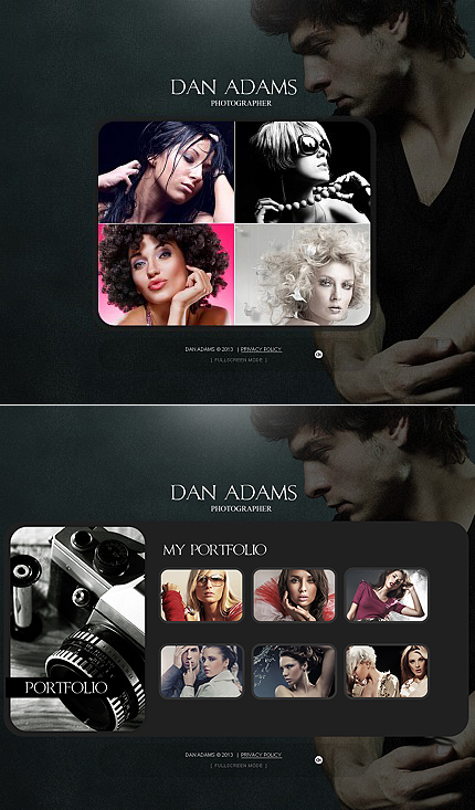 ADOBE Photoshop Template 42310 Home Page Screenshot