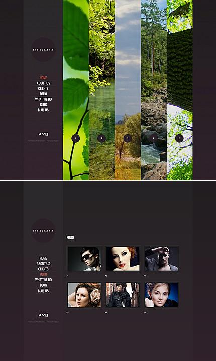 ADOBE Photoshop Template 42311 Home Page Screenshot