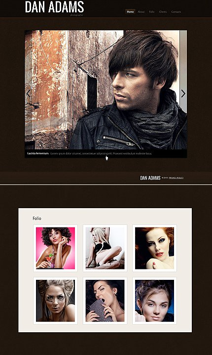 ADOBE Photoshop Template 42312 Home Page Screenshot