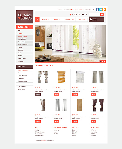 ADOBE Photoshop Template 42313 Home Page Screenshot