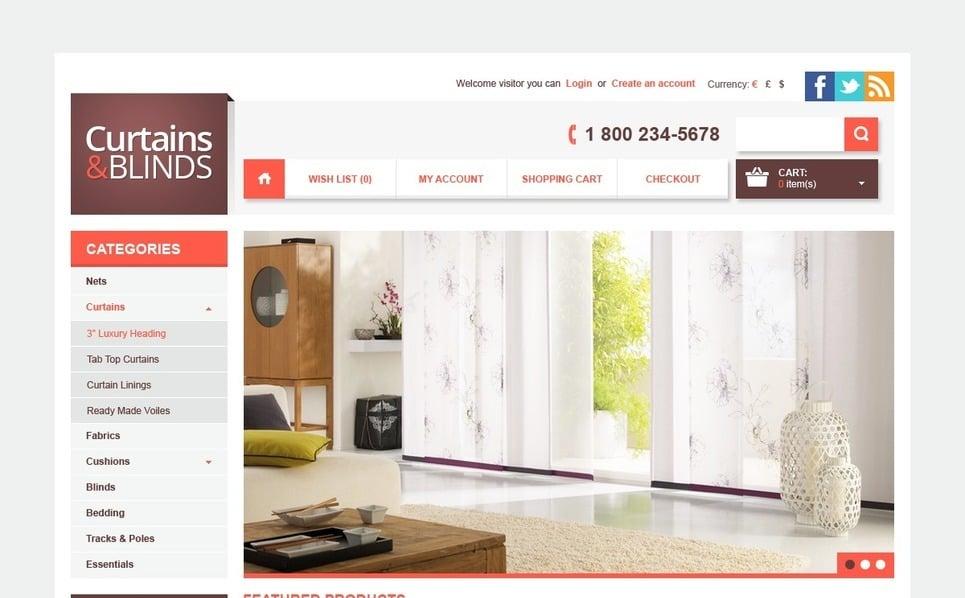 """OpenCart Vorlage namens """"Vorhänge & Gardinen"""" New Screenshots BIG"""