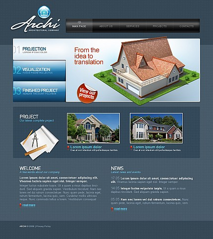 ADOBE Photoshop Template 42326 Home Page Screenshot