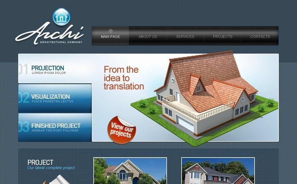 Modèle Flash CMS  pour site d'architecture New Screenshots BIG