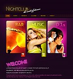 Night Club Flash CMS  Template 42327