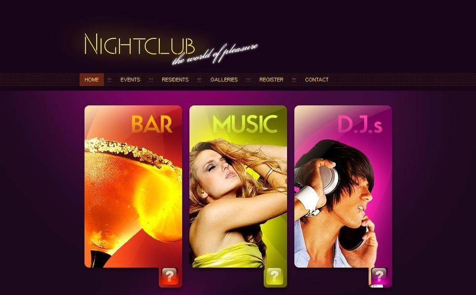 Modèle Flash CMS  pour site de boîte de nuit New Screenshots BIG