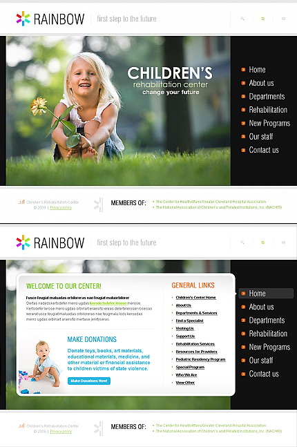 ADOBE Photoshop Template 42328 Home Page Screenshot