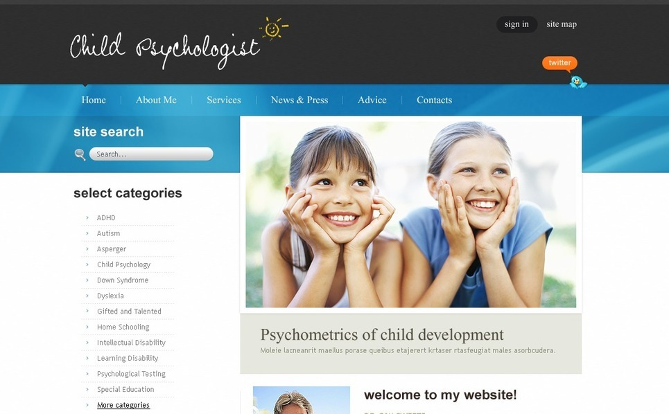 Flash CMS Vorlage für Psychologe  New Screenshots BIG