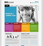 Communications Flash CMS  Template 42330