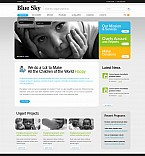 Charity Flash CMS  Template 42333