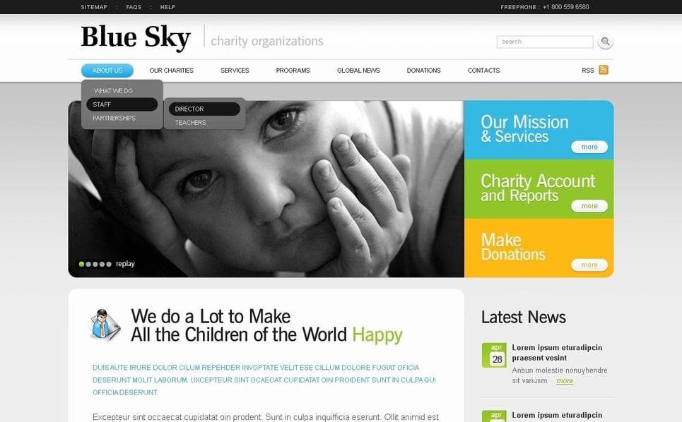 Prémium Gyermekmentő alapítványok Flash CMS sablon New Screenshots BIG