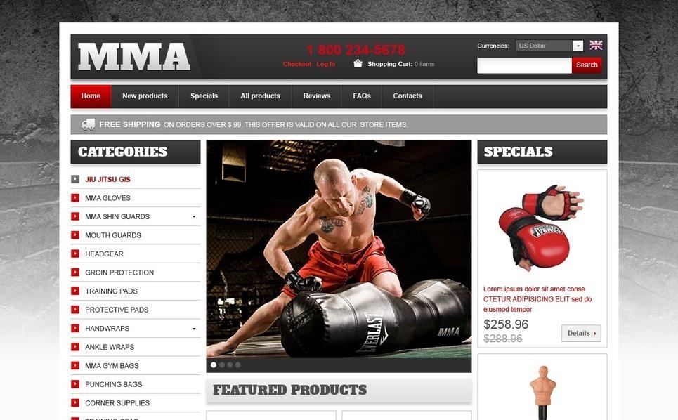 ZenCart Vorlage für Kampfsport  New Screenshots BIG