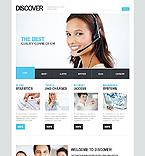 Communications Website  Template 42341