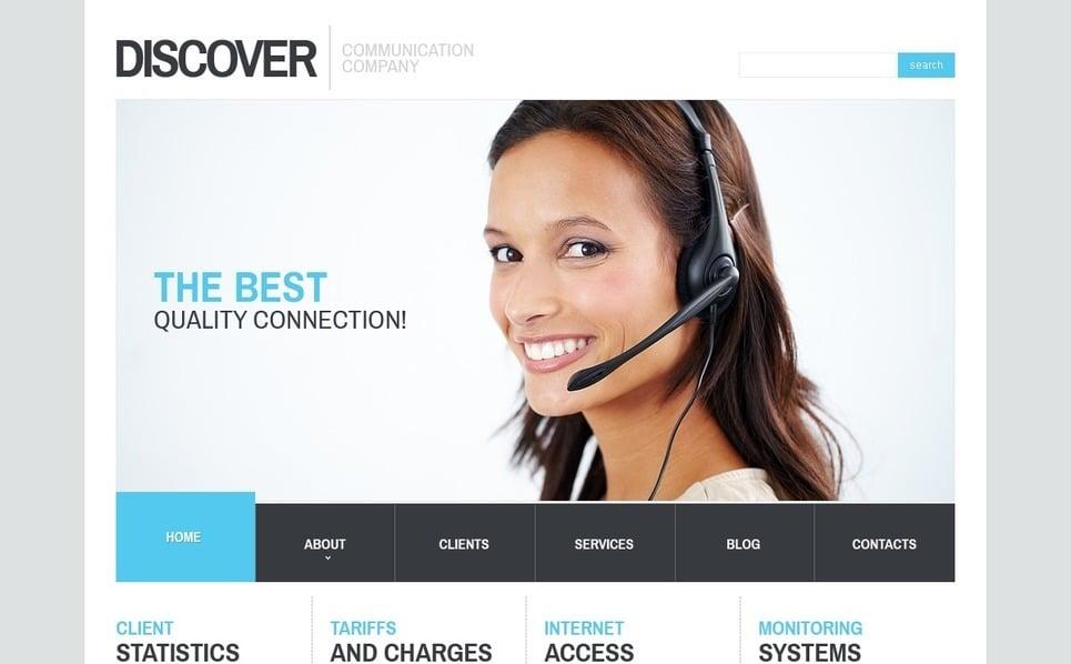 Адаптивний Шаблон сайту на тему комунікації New Screenshots BIG