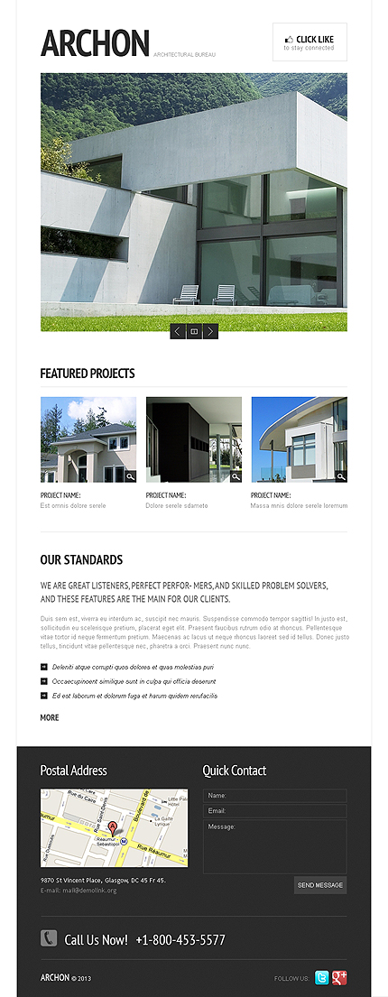 ADOBE Photoshop Template 42360 Home Page Screenshot
