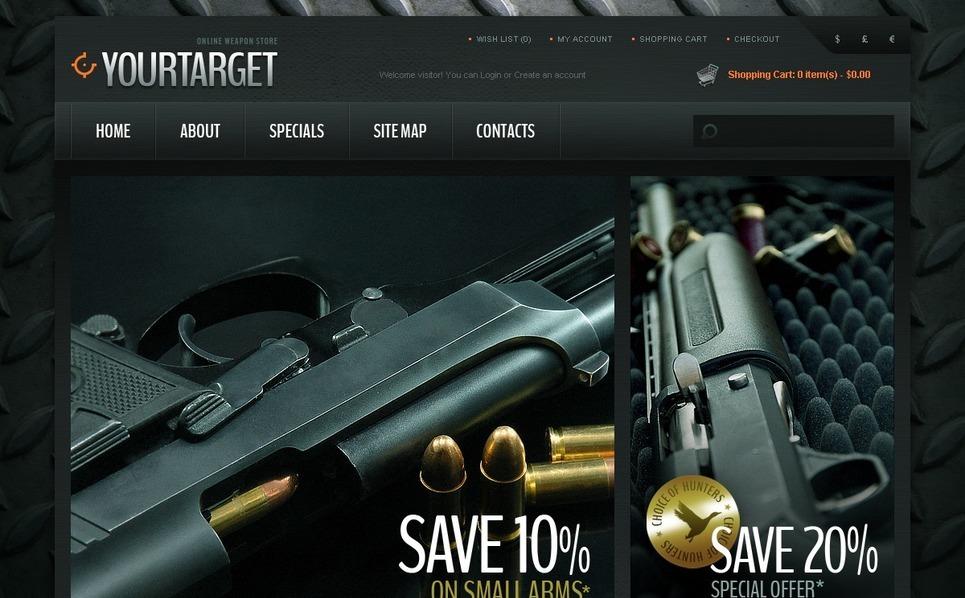 OpenCart šablona Prodejna zbraně New Screenshots BIG