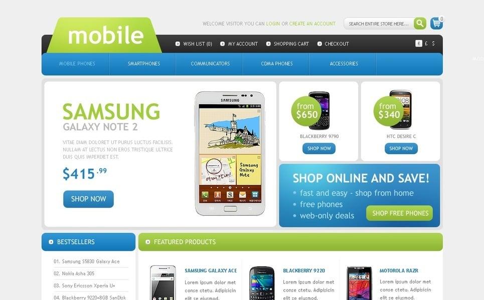 "Plantilla OpenCart ""Tienda de Teléfonos Móviles"" New Screenshots BIG"