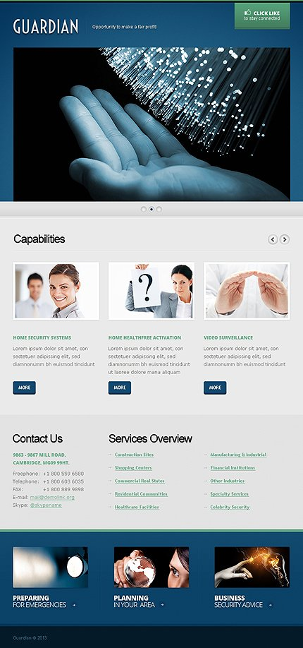 ADOBE Photoshop Template 42376 Home Page Screenshot