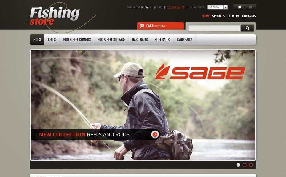 Tema PrestaShop  para Sites de Pescaria №42381 New Screenshots BIG