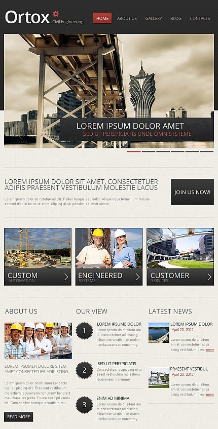 Template #42387 Industrial Products Facebook Flash Cms Theme 2.0 - Facebook Screenshot