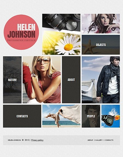 ADOBE Photoshop Template 42389 Home Page Screenshot