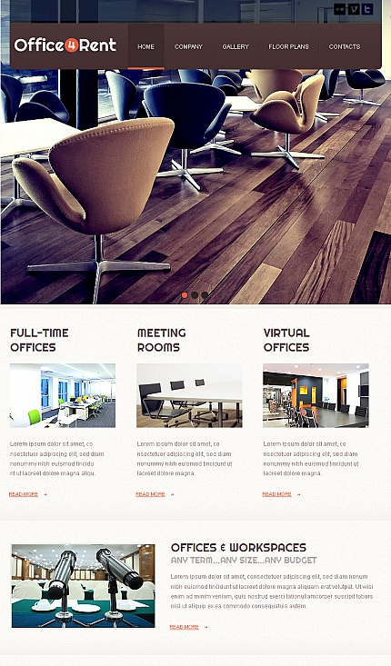 ADOBE Photoshop Template 42390 Home Page Screenshot