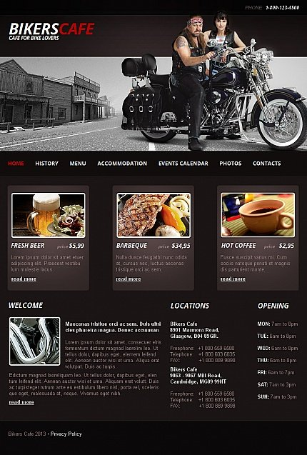 ADOBE Photoshop Template 42398 Home Page Screenshot