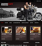 Cafe & Restaurant Facebook HTML CMS  Template 42398