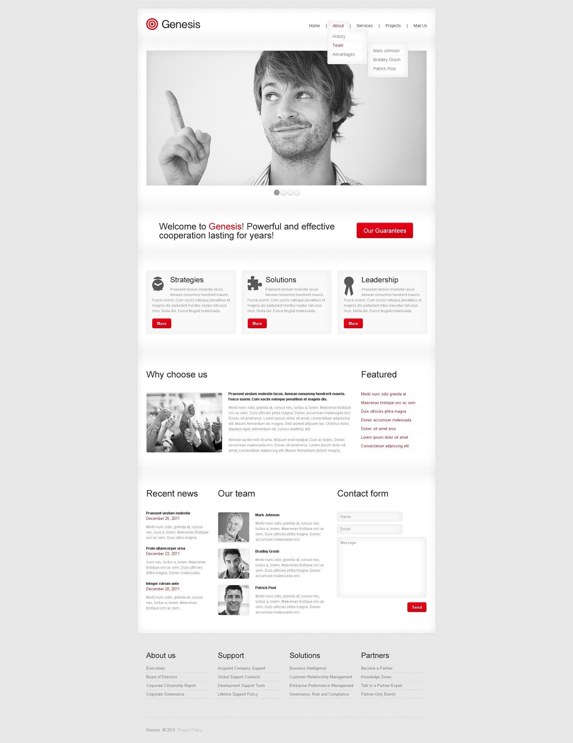 Advertising Agency Website Template - screenshot