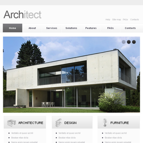 Architecture - Facebook HTML CMS Template