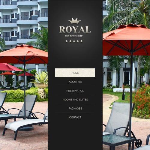 Royal Hotel - Facebook HTML CMS Template