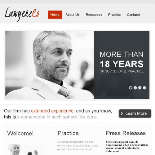 Lawyers Bureau - Facebook HTML CMS Template