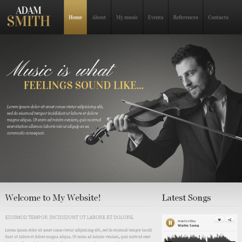 Adam Smith - Facebook HTML CMS Template